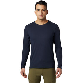 Mountain Hardwear Vertical Oriented Longsleeve Tee Heren, dark zinc